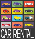 Vector sign. Car rental. Royalty Free Stock Photo