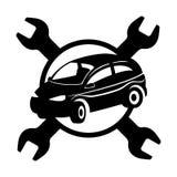 Vector sign. Car repair. Royalty Free Stock Image