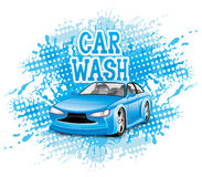 Vector sign. Car wash. Royalty Free Stock Image