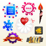 Vector sign collection of sale elements label Stock Photo