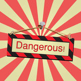 Vector sign dangerous Stock Images