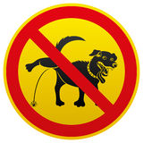 Vector sign. Dog. Royalty Free Stock Photography