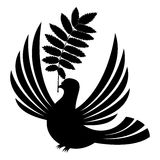 Vector sign. Dove. Royalty Free Stock Image