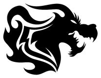 Vector sign. Dragon. Stock Photography