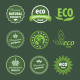 Eco logo. Vector sign eco-friendly products Royalty Free Stock Photography