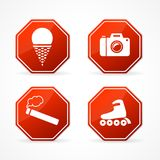 Vector Sign forbidden on white background Royalty Free Stock Image