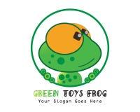 Green Frog Toys Flat logo design amazing illsutration vector illustration