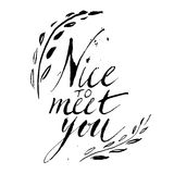 Vector sign - handmade calligraphy Stock Images