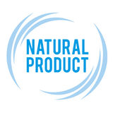 Mark of the natural product. Vector sign of high quality blue Royalty Free Stock Image