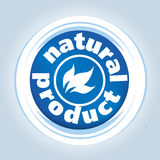Natures product brand logo Royalty Free Stock Photo