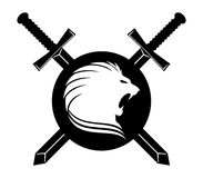 Vector sign. Lion. Royalty Free Stock Images