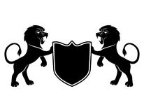 Vector sign. Lions. Vector sign isolated on white background. Lions stock illustration