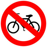 Vector sign no bicycle Stock Images