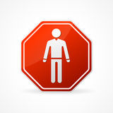 Vector Sign no man on white background Stock Photos