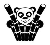 Vector sign. Panda. Royalty Free Stock Photo