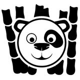 Vector sign. Panda. Royalty Free Stock Photo