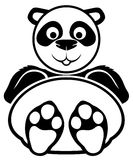 Vector sign. Panda. Royalty Free Stock Image