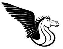 Vector sign. Pegasus. Royalty Free Stock Photo