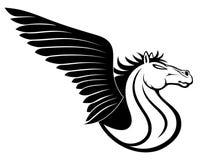 Vector sign. Pegasus. Royalty Free Stock Photo