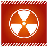 Vector sign for radioactivity Stock Photo