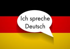 Vector Sign Speaking German. Abstract  on white background Stock Photos