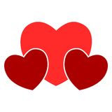 Vector sign three hearts Stock Image