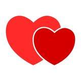 Vector sign two hearts Royalty Free Stock Photo
