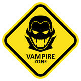 Vector sign. Vampire zone. Format eps 10. Vector sign with vampire icon and text. Format eps 10 Royalty Free Stock Photo