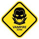 Vector sign. Vampire zone. Format eps 10 Royalty Free Stock Photo