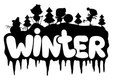 Vector sign. Winter. Stock Photos