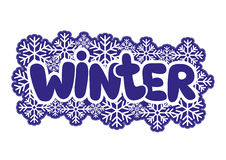 Vector sign. Winter. Stock Image