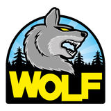 Vector sign. Wolf. Royalty Free Stock Photo
