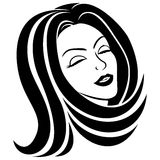 Vector sign. Woman. Royalty Free Stock Images