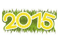 Vector sign. 2015 year. Vector sign isolated on white background. 2015 year stock illustration