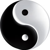 Vector sign ying yang mesh Royalty Free Stock Photo