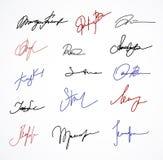 Vector Signature fictitious Autograph on white. Vector color Signature fictitious Autograph on white background vector illustration