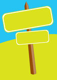 Vector signboard. An illustration of a signboard on the road Stock Photos