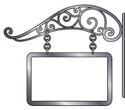 vector signboard and retro metal decoration Royalty Free Stock Photography