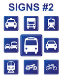 Vector Signs. Vector blue signs about transport Stock Images