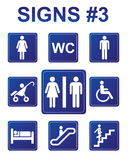 Vector signs. Vector blue signs about people Stock Photos