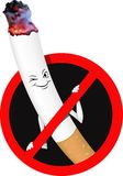 Vector signs ban no smoking Royalty Free Stock Photos