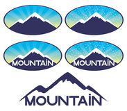Vector signs. Mountain. Royalty Free Stock Photography