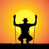 Vector silhouet van de mens Royalty-vrije Stock Foto