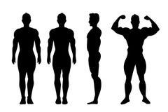 Vector silhouet van de mens royalty-vrije illustratie