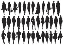 Vector silhouette Royalty Free Stock Photos