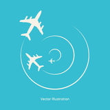 Vector silhouette of aeroplanes Stock Photo