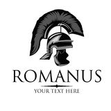 Vector silhouette of an ancient Roman helmet. Stock Photos