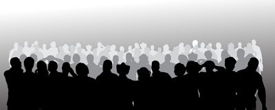 Vector silhouette of anonymous people. Stock Image