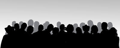 Vector silhouette of anonymous people. Royalty Free Stock Images