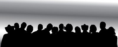 Vector silhouette of anonymous people. Royalty Free Stock Photo